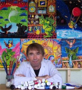 Mike Fryer in his studio